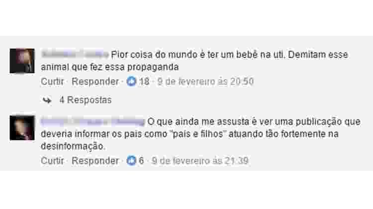 comentários em post do Mamatraca contra a revista Pais & Filhos - Reprodução/Facebook - Reprodução/Facebook