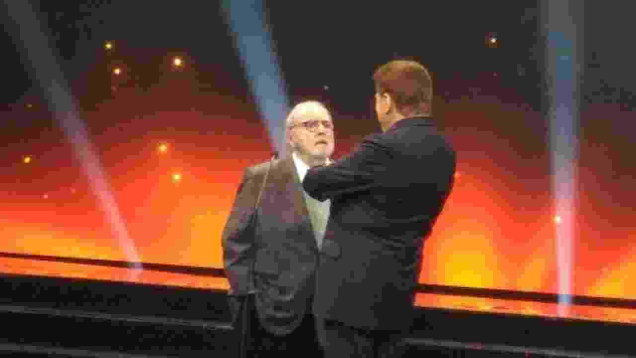 Jô Soares e Silvio Santos voltaram a se encontrar no palco do Troféu Imprensa depois de quase 20 anos - Ricardo Feltrin/UOL