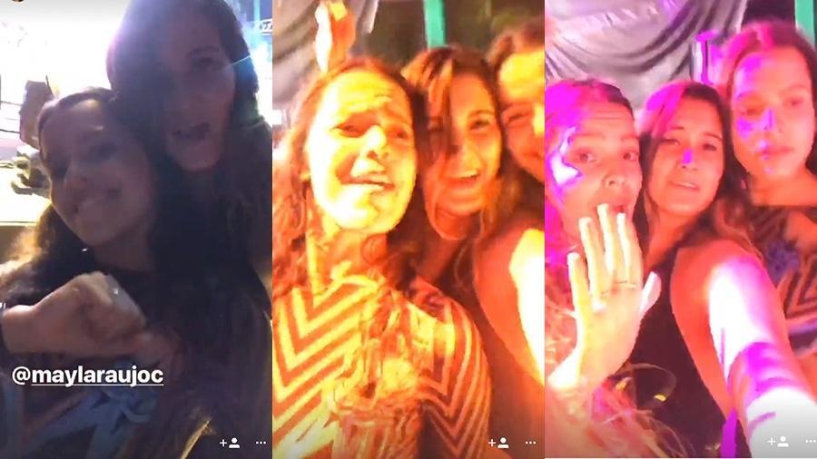 Filha de Fátima Bernardes e William Bonner, Beatriz Bonemer curte show com Emilly e Mayla - Reprodução/Instagram