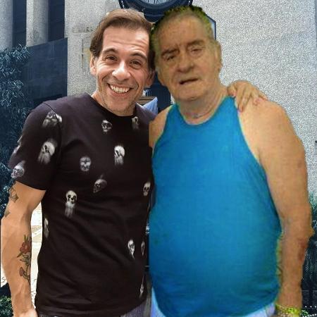 Leandro Hassum publica montagem abraçando o pai, Carlos Alberto da Costa Moreira - Reprodução/Instagram/leandrohassum