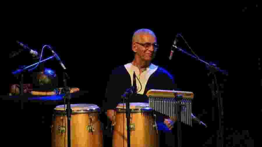 O percussionista Laudir de Oliveira, que morreu aos 76 anos - Reprodução