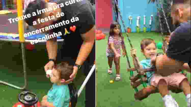 Jonathan Costa aparece cuidando e brincando com o filho, Salvatore, em vídeos feitos por Antônia Fontenelle - Reprodução/Instagram/ladyfontenelle - Reprodução/Instagram/ladyfontenelle
