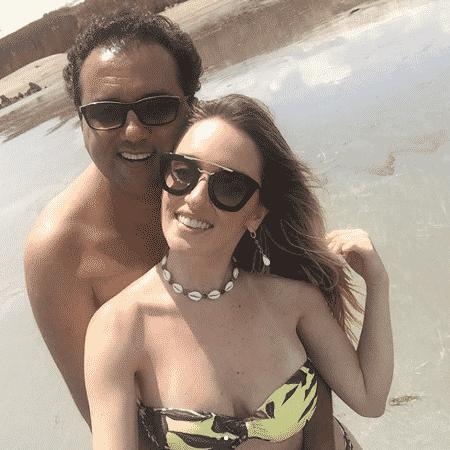 Geraldo Luis e a namorada no Ceará - Reprodução/Instagram/geraldobalanca