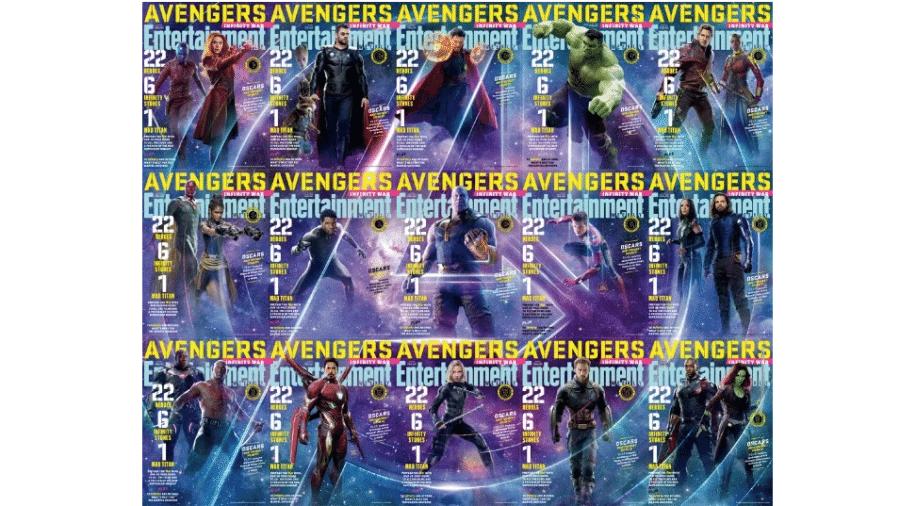 Capas da revista Entertainment Weekly com os Vingadores - Divulgação