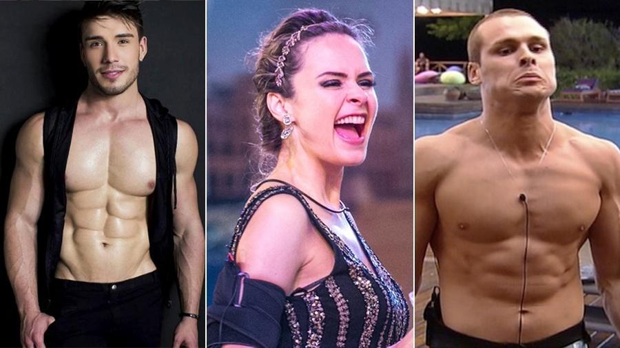 """Lucas Viana, do """"AYTOBR""""; Ana Paula, do """"BBB16"""" ; e Lucas Barreto, da """"Fazenda de Verão"""" foram expulsos por """"comportamento inadequado"""" - Reprodução/Instagram/TV Globo/Record"""