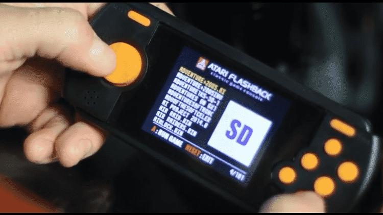 Atari Portátil cartão SD - Reprodução - Reprodução