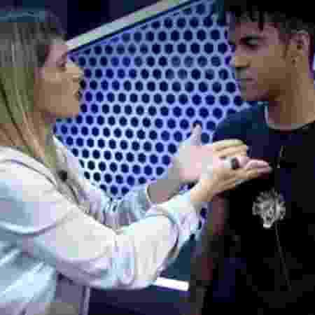 """Nadja Pessoa e Vinicius D'Black no """"Power Couple Brasil"""" - Reprodução/Record - Reprodução/Record"""