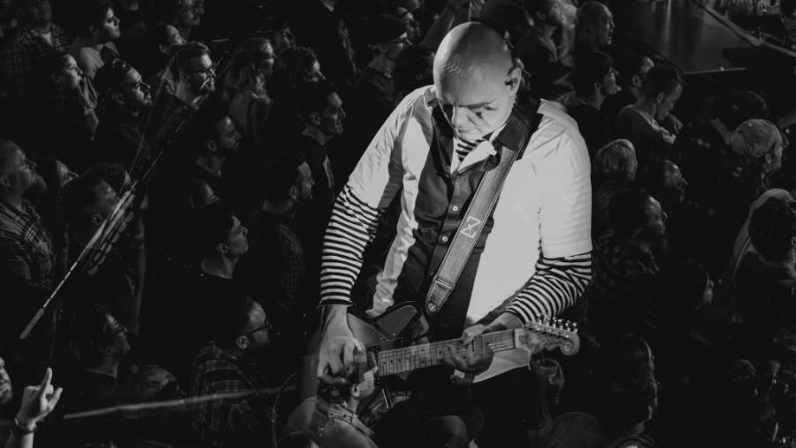 Billy Corgan lidera o Smashing Pumpkins em show intimista no The Troubadour, em Los Angeles (EUA) - Reprodução/Twitter/Smashing Pumpkins