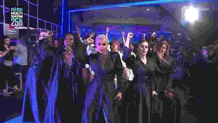 Grupo Rouge se apresenta no tapete vermelho do Prêmio Multishow - Reprodução/Multishow