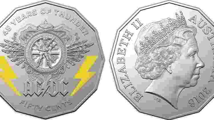 Austrália lança moeda comemorativa do AC/DC - Divulgação - Divulgação