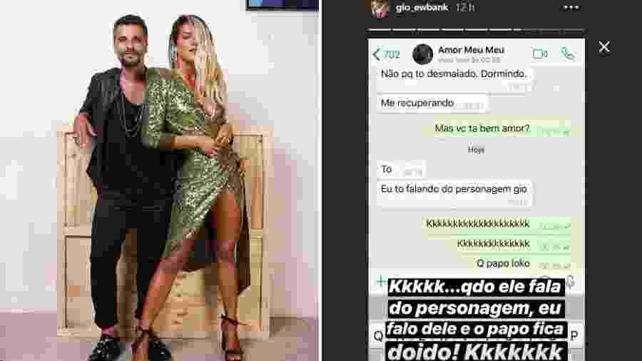 Giovanna Ewbank posta print da conversa com Bruno Gagliasso - Reprodução/Instagram
