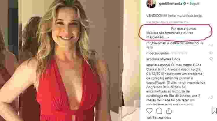 Comentário post Fernanda Gentil - Reprodução/Instagram - Reprodução/Instagram