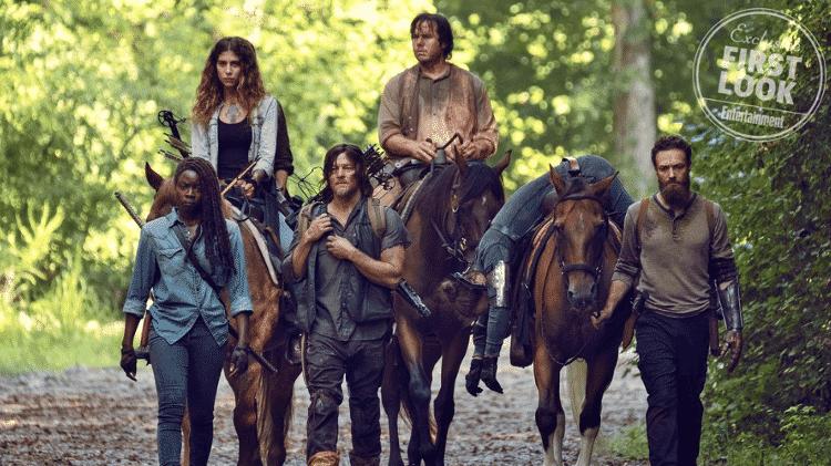 """Primeira foto do retorno de """"The Walking Dead"""" em 2019 - Reprodução/EW"""