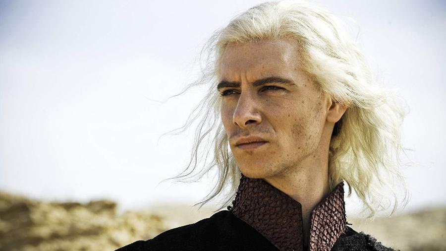 "Harry Lloyd como Viserys Targaryen em ""Game of Thrones"" - Divulgação/IMDb"