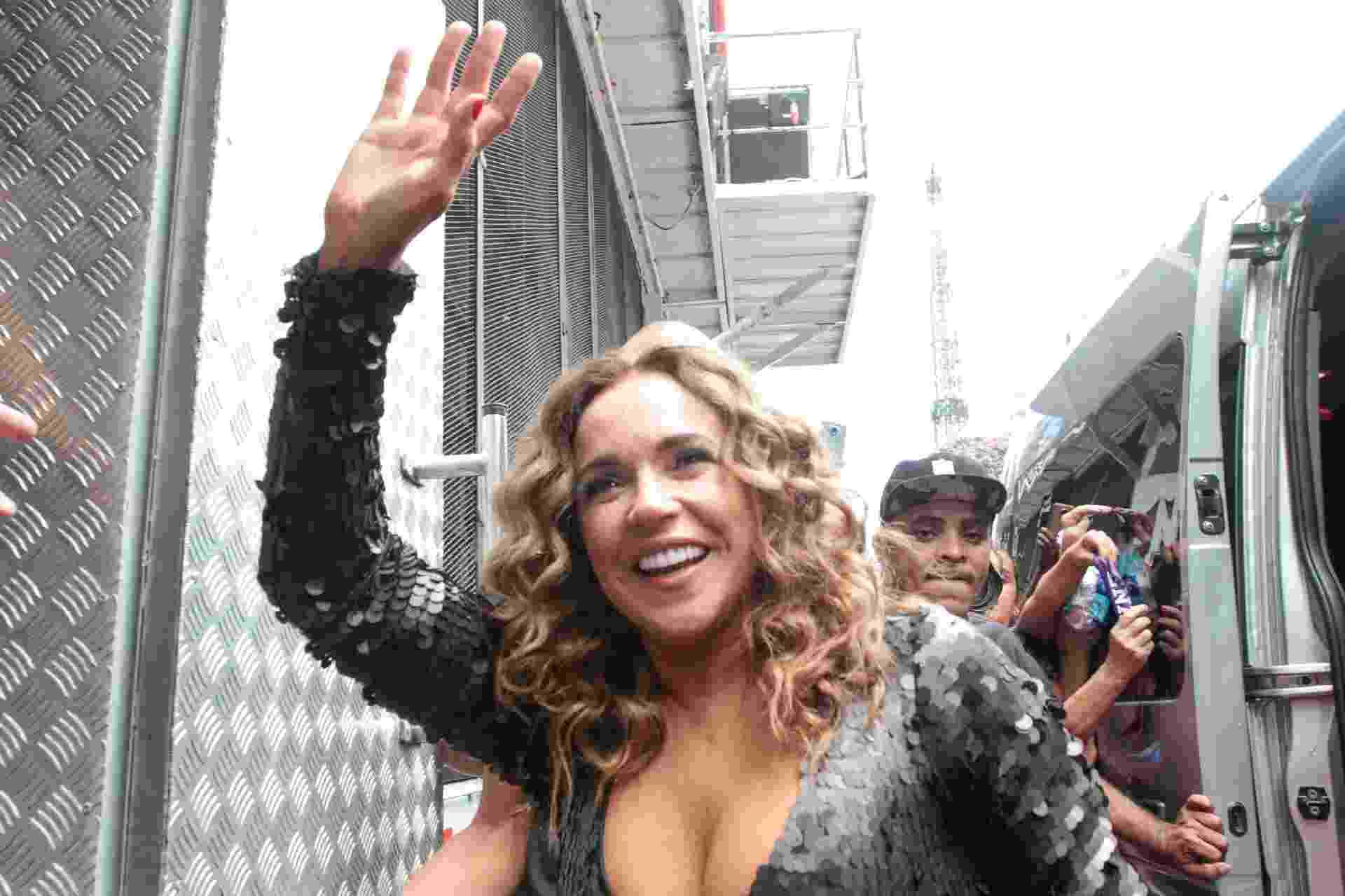 A cantora Daniela Mercury chega Consolação - Robson Ventura/Folhapress