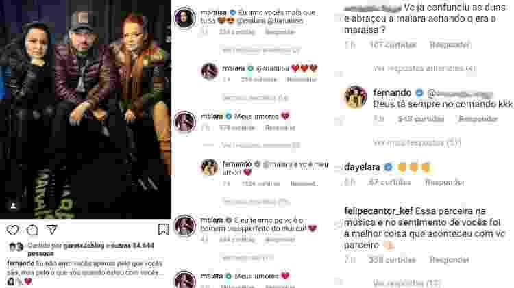 Fernando troca declarações com Maiara e Maraisa e revela se já as confundiu