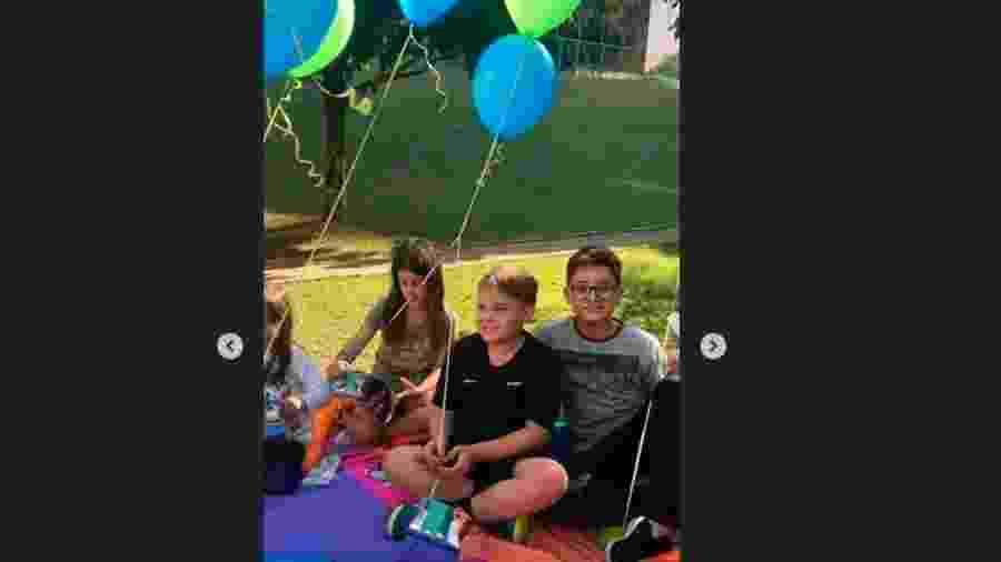 Davi Lucca ganhou piquenique com amigos de aniversário - Reprodução/Instagram