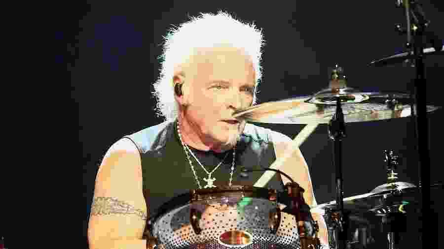 """Joey Kramer, baterista do Aerosmith, durante apresentação em fevereiro de 2019 - Tommaso Boddi/Getty Images for Janie""""s Fund"""