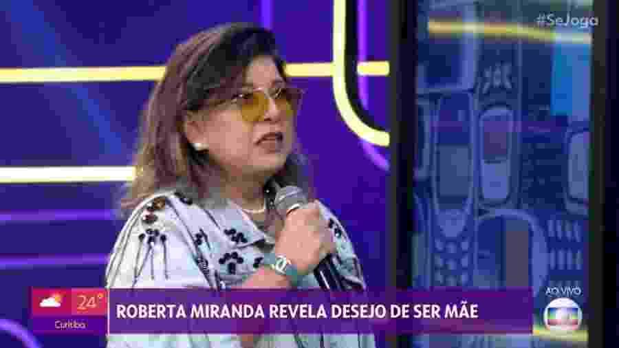 """Roberta Miranda participa do programa """"Se Joga"""" - Reprodução/TV Globo"""