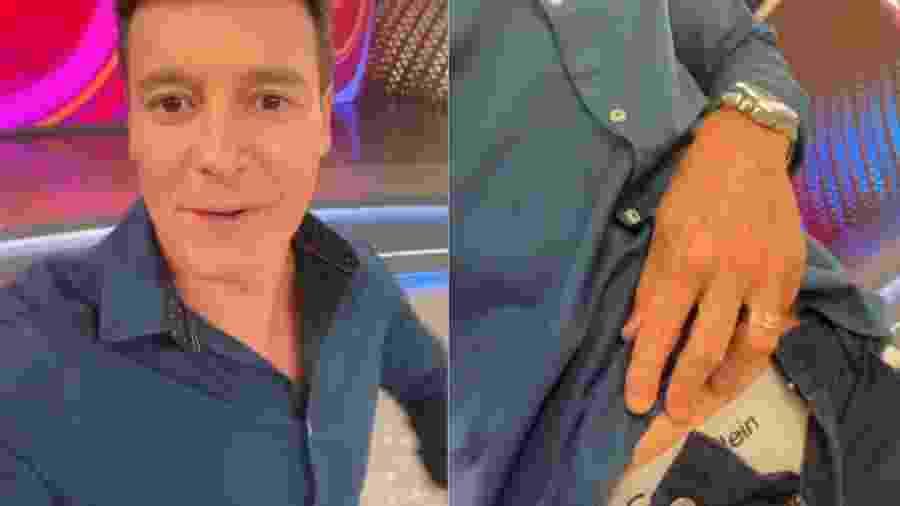 Rodrigo Faro e suas calças que não fecham mais - Reprodução/Instagram