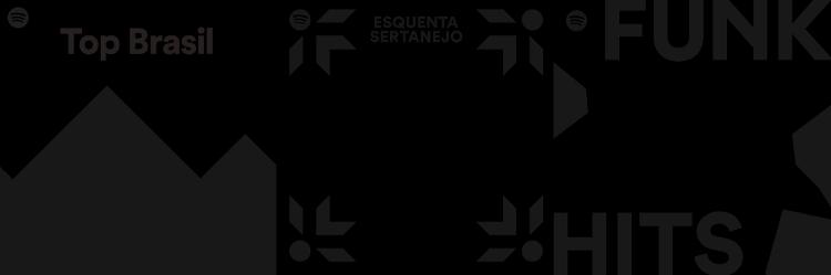 Top Brasil, Esquenta Sertanejo e Funk Hits: principais playlists brasileiras mudam de cara no Spotify para apoiar movimento contra o racismo - Divulgação/Spotify
