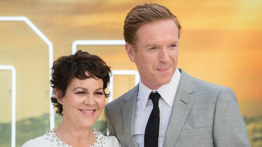 """Helen McCrory e Damian Lewis na première de """"Era uma Vez em Hollywood"""", em Londres - Samir Hussein/WireImage"""
