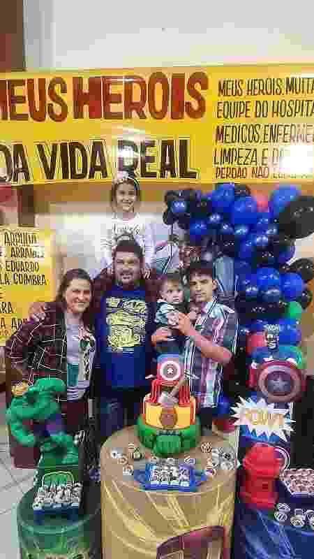 Aniversário Vitor Leonardo, bebê que nasceu de mãe intubada - Arquivo pessoal - Arquivo pessoal