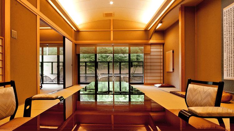 Um dos ambientes do Nishiyama Onsen Keiunkan - Divulgação - Divulgação