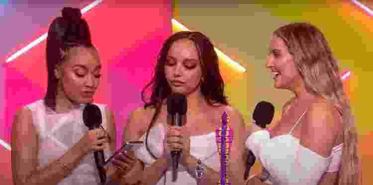 Little Mix recebe prêmio de 'Melhor Grupo' no BRIT Awards 2021 - Reprodução/YouTube - Reprodução/YouTube