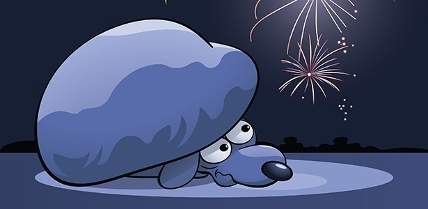 Cães e gatos sofrem com o barulho dos fogos de artifício e com o estrondo dos trovões - Getty Images