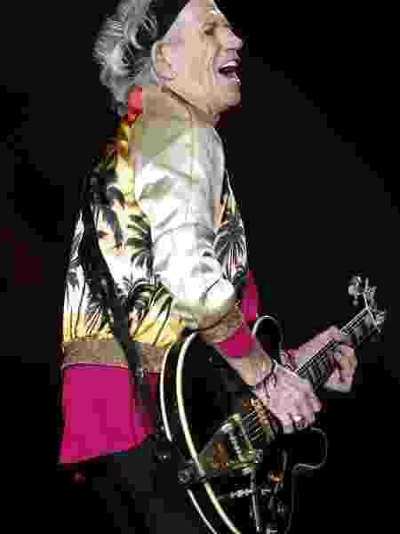 Keith Richards se apresenta com os Rolling Stones no Chile, em 2016 - Sebastián Silva /EFE