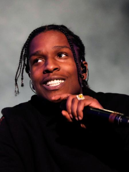 15.abr.2016 - O rapper A$AP Rocky se apresenta no primeiro dia do Coachella Festival 2016, em Indio, Califórnia - Getty Images