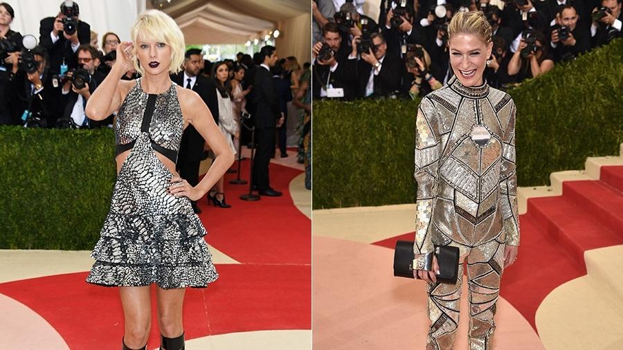 Looks de Taylor Swift e da empresária Julie Macklowe foram comparados a peixe e robô - Getty Images