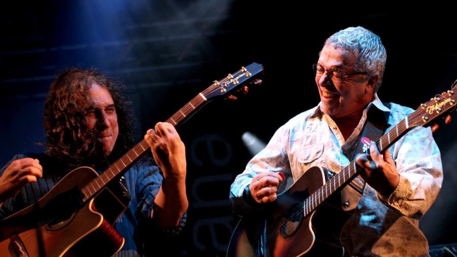 O cantor e compositor Sá (à direita), que gravará disco sem Guarabyra - Reprodução/Facebook