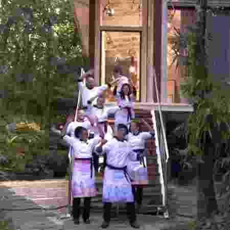 """Participantes do """"SuperChef Celebridades"""" dançam hit do Village People no """"Mais Você"""" - Reprodução/TV Globo - Reprodução/TV Globo"""