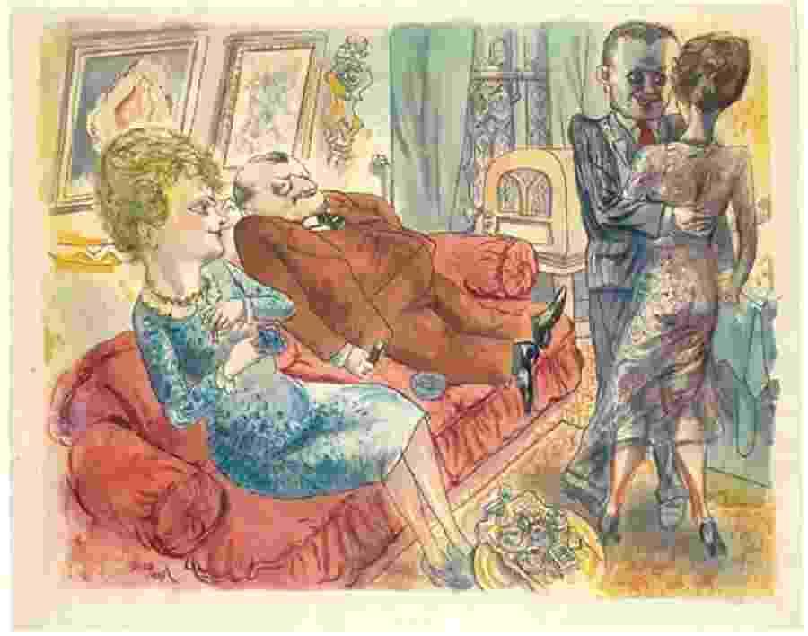 """""""Uma Tarde em Berlim"""" (1929), de George Grosz - Reprodução"""