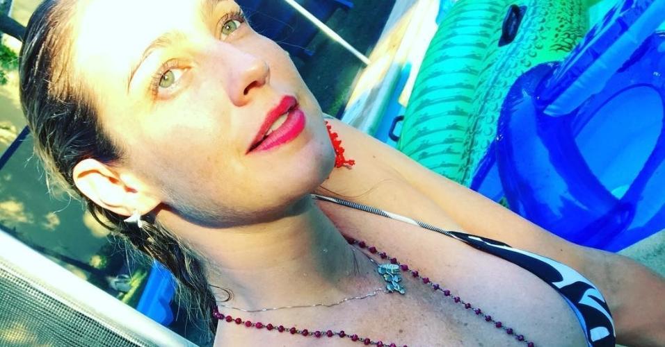 Luana Piovani tatuou os nomes dos filhos Dom, Liz e Bem