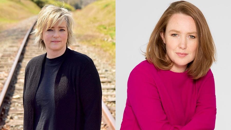 """Karin Slaughter e Paula Hawkins, autoras dos best-sellers """"Flores Partidas"""" e """"A Garota no Trem"""" - Divulgação"""