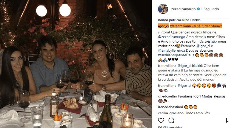 Igor Camargo discute com seguidora - Reprodução/Instagram - Reprodução/Instagram