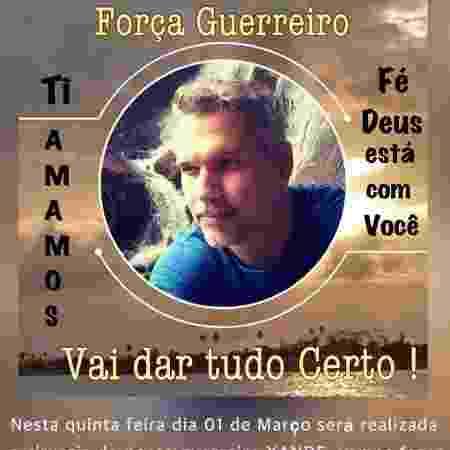 Família de Alexandre Farias pede orações - Reprodução/WhatsApp - Reprodução/WhatsApp