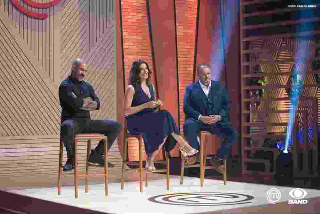 """Henrique Fogaça, Paola Carosella e Érick Jacquin, jurados do """"MasterChef"""", da Band - Carlos Reinis/Divulgação"""