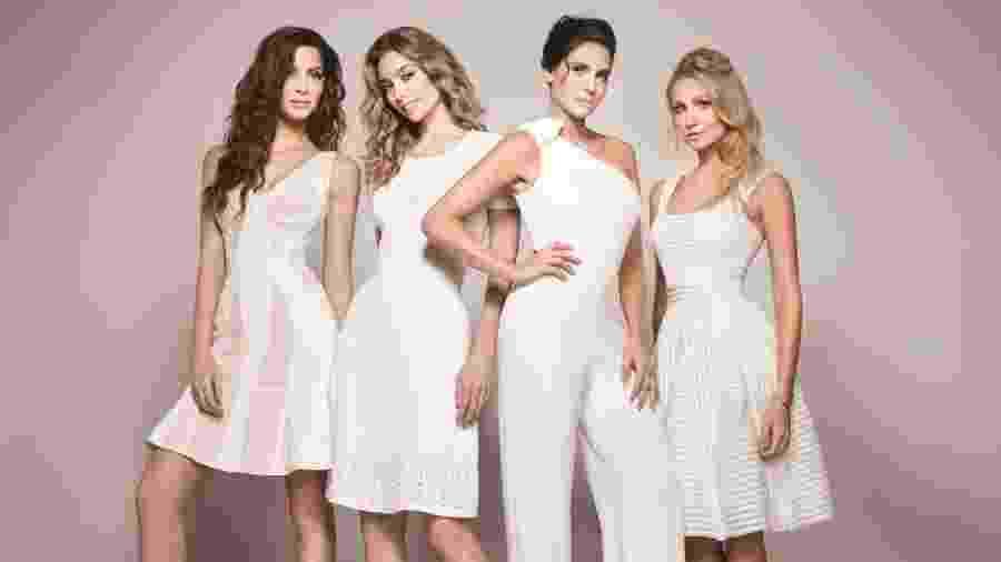 """Magali (Michelle Batista), Luna (Juliana Schalch), Karin (Rafaela Mandelli) e Mia (Aline Jones), protagonistas da série """"O Negócio"""", da HBO - Divulgação"""