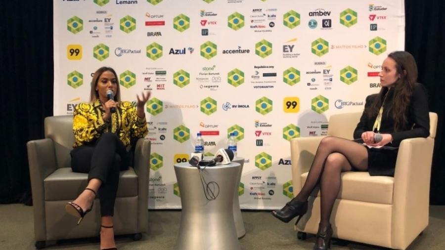 Anitta é entrevista durante palestra na Universidade de Harvard (EUA) - Reprodução/BrazilConference