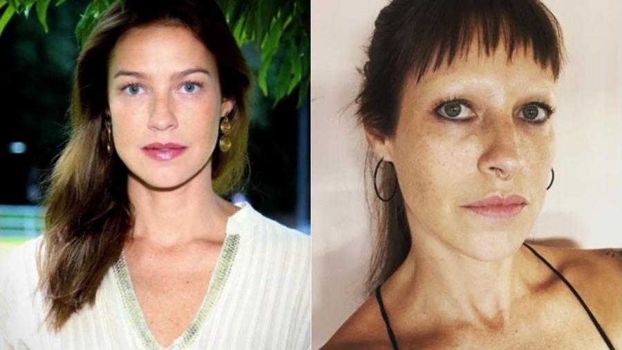 Antes e depois da mudança de visual de Luana Piovani - Reprodução/Instagram