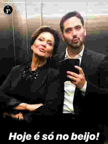 Ieda e Marcelo brincam de jogar beijos em selfie no espelho - Reprodução/Instagram/m.h.g.r2 - Reprodução/Instagram/m.h.g.r2