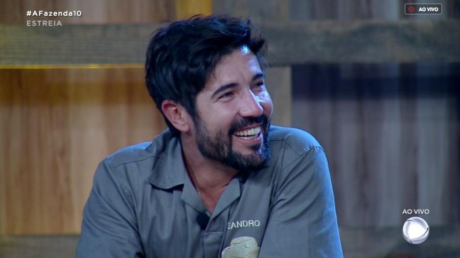 Sandro Pedroso participa da primeira prova do fazendeiro  - Reprodução/RecordTV