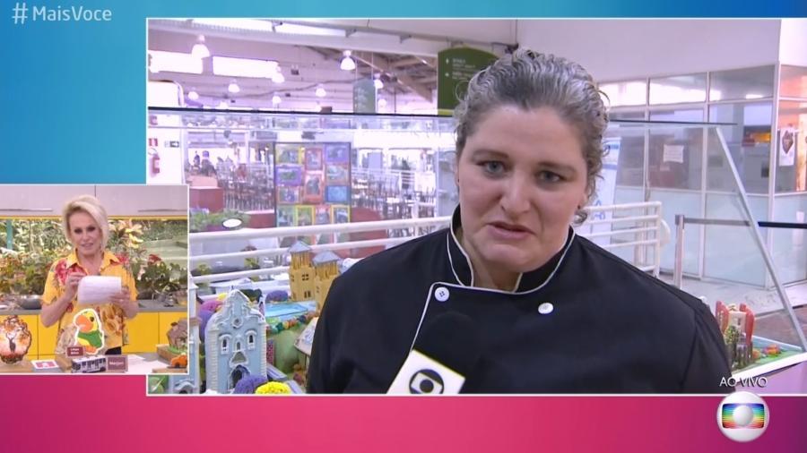 Confeiteira Marjori Gonçalves conta que uma receita de Ana Maria Braga a ajudou a transformar sua vida - Reprodução/Globo