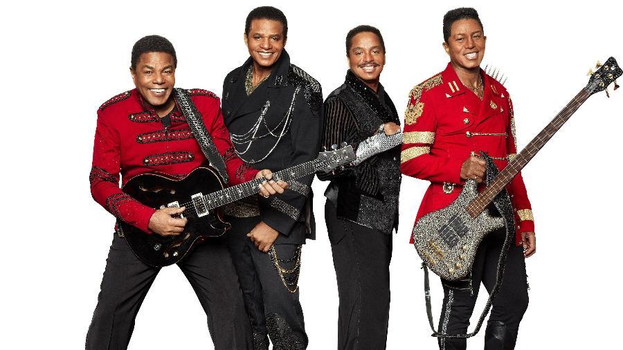 O grupo The Jacksons, que virá ao Brasil pela primeira vez sem Michael Jackson - Divulgação