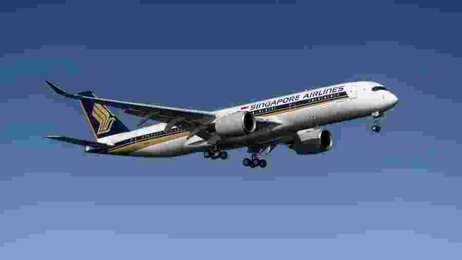 A viagem aérea da Singapore Airlines é realizada com um Airbus A350-900ULR - Divulgação/Singapore Airlines