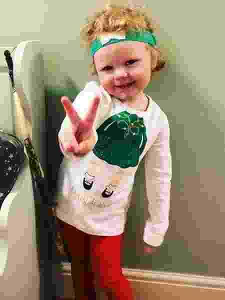 A menina Daisy faz sucesso na internet com suas caras e bocas - Reprodução Instagram